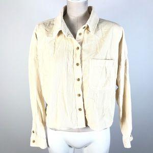 AE corduroy crop jacket oversized
